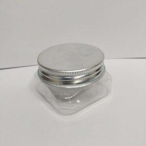 50 Gram Pet jar With Silver Lid - Pack of 12