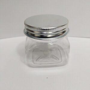 100 Gram Pet jar With Silver Lid - Pack of 12