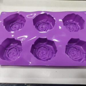 Rose Mold - 6 Cavity - 100 Grams