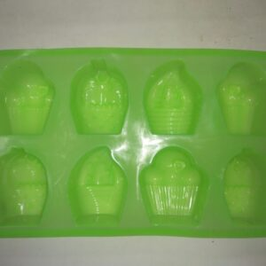 Cup Cake Mold Assorted - 8 Cavity - 100 Grams