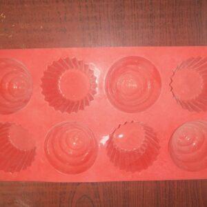 Cup Cake Mold - 8 Cavity - 60 Grams